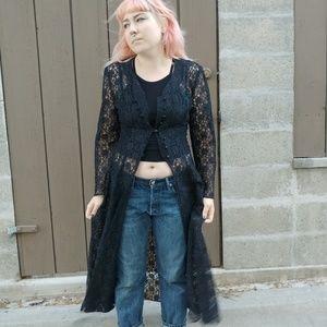 Bewitching 90s lace dress/jacket.